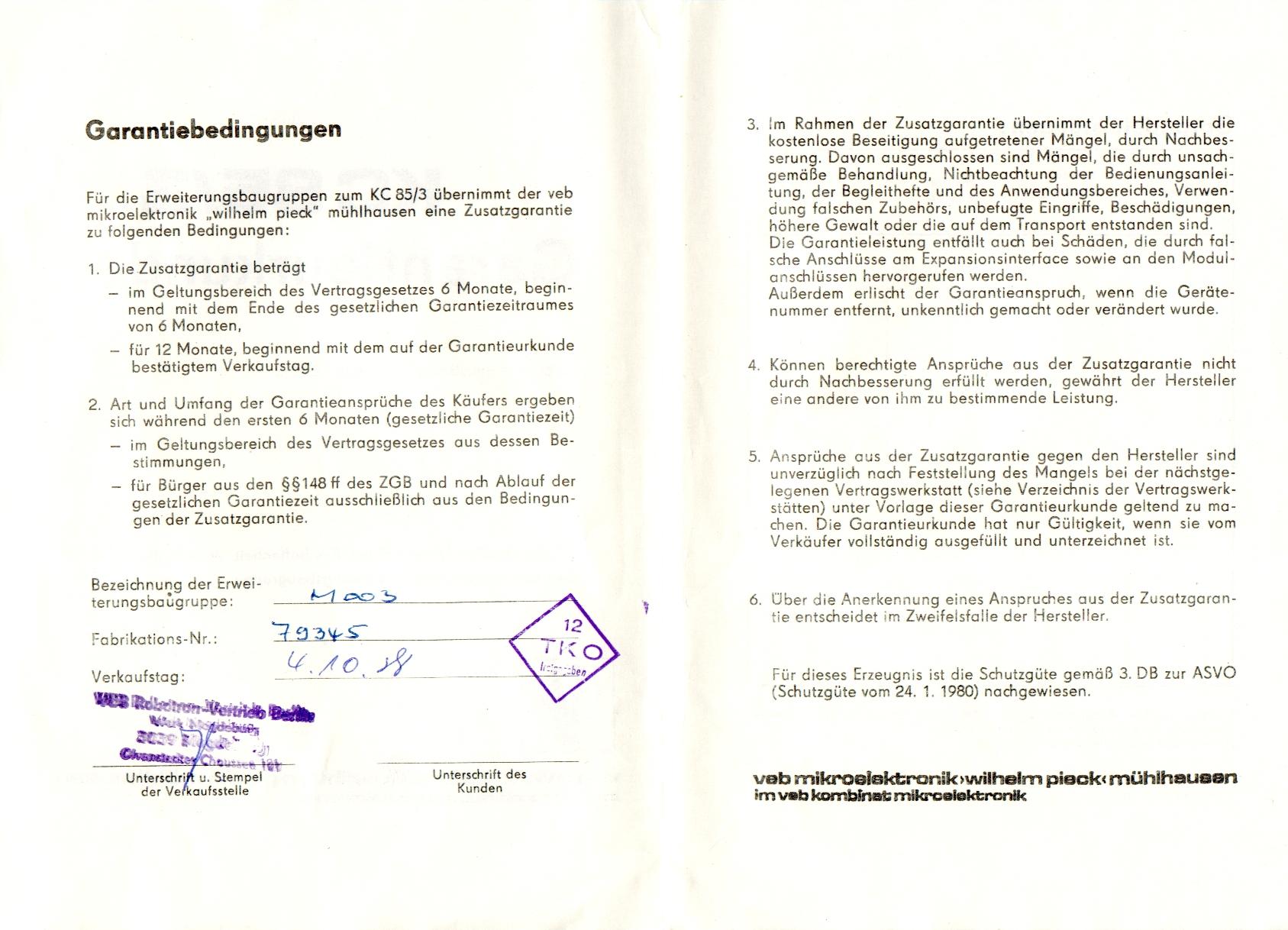 Charmant Garantievereinbarung Vorlage Zeitgenössisch - Entry Level ...